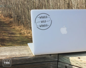 Wander Wild Wonder - Laptop Decal - Laptop Sticker - Car Sticker - Car Decal - Bumper Sticker
