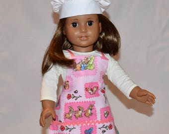 Easter apron and chef hat for your 18 inch doll
