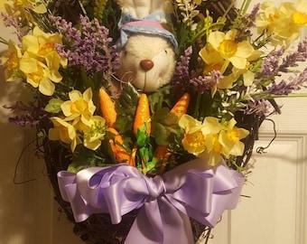Easter Bunny hanging basket