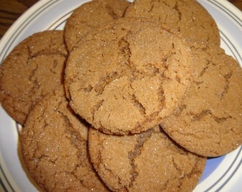 Homemade Ginger Full Flavor Molasses Cookies (4 Dozen)