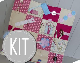 Fidget Quilt DIY Kit - Create your own Activity Mat for adults with Alzheimer's Dementia Autism - Gifts for Busy Hands and  Rehabilitation