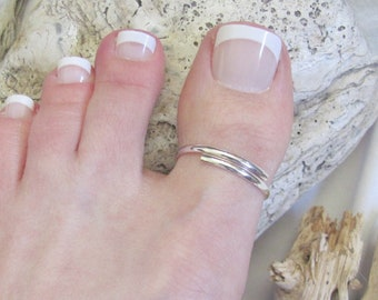 Sterling Silver Toe Ring, Big Toe Ring, Beach Toe Ring, Big Toe Toe Ring
