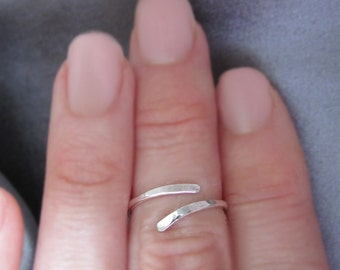Sterling Silver Midi Ring, Above Knuckle Ring, Silver Toe Ring