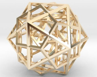 Platonic Solids Code: Metatrons Cube 3D, MerKaBa, Octahedron, Tantric Star, Dodecahedron Icosahedron, Silver Gold Sacred Geometry Jewelry
