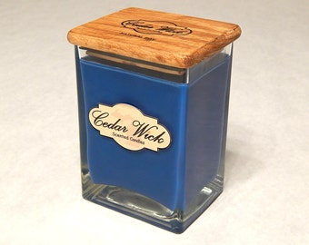 Natural Soy Wood Wick 26 oz Candle. Burns Clean. These WoodWick Candles are Handmade in Michigan with Natural Products.