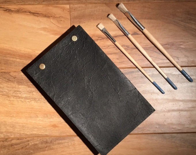 Vintage Style Leather Watercolor Sketchbook Distressed Rustic Leather Custom Unique Gift for Him