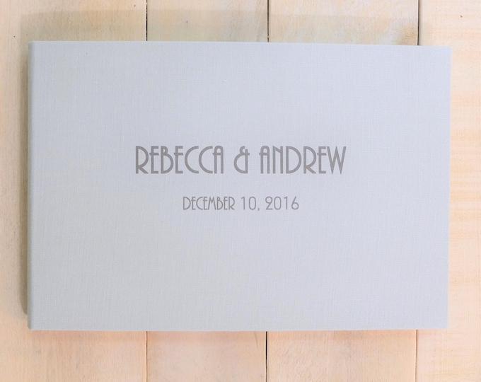 Contemporary Wedding Guest Book