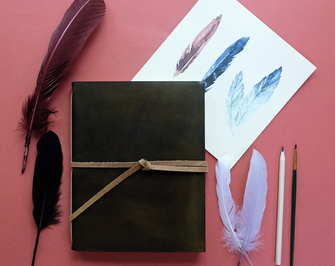 Artist's Leather Watercolor Sketchbook