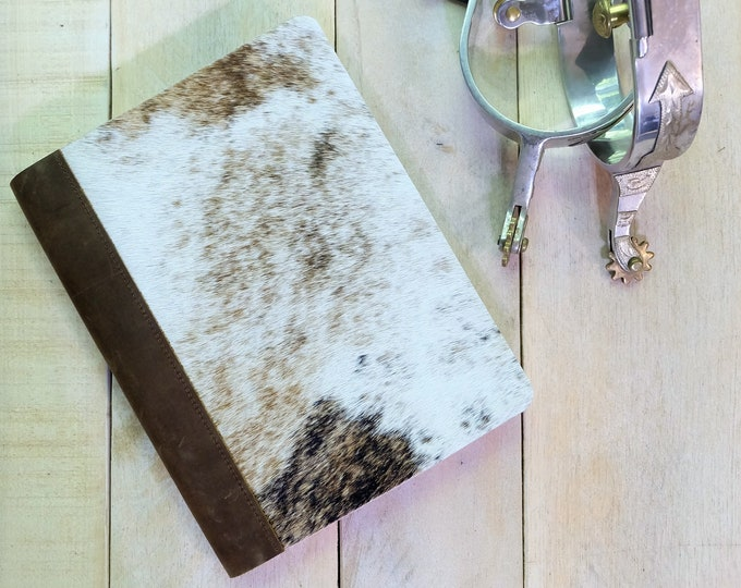 Cowhide Leather Notebook - Lined, Blank, Dot Graph For Bullet Journaling, or Graph Paper