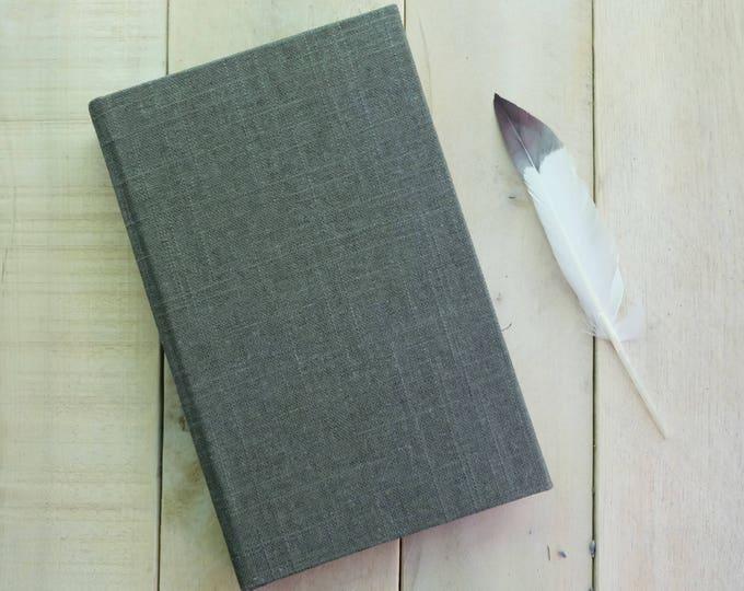 "Linen Journal or Sketchbook in ""Charcoal Gray"""