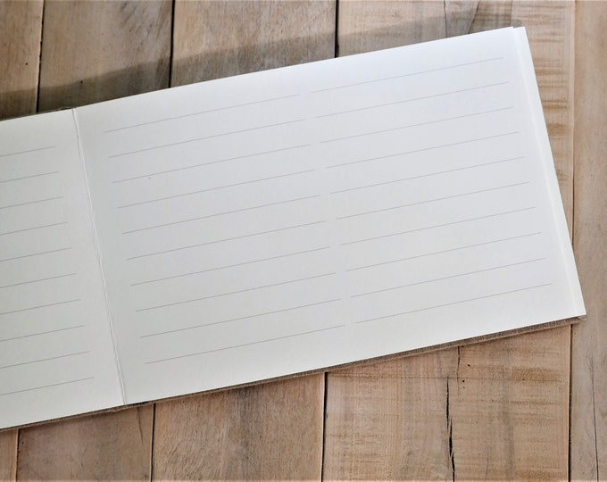 Lined Pages for our 40 Page Guest Book - Exclusively Made by Small Oak Studios
