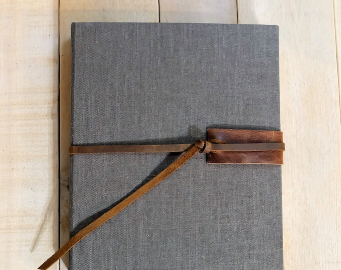 Linen and Leather Watercolor Sketchbook