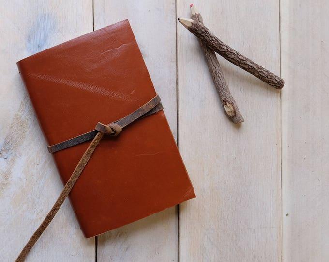 Leather Watercolor Sketchbook in Tobacco Brown