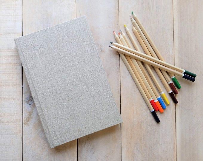 Custom Linen Sketchbook, Journal, Blank Journal
