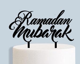 Ramadan Mubarak Cake Topper