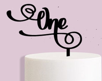 One First Birthday Cake Topper