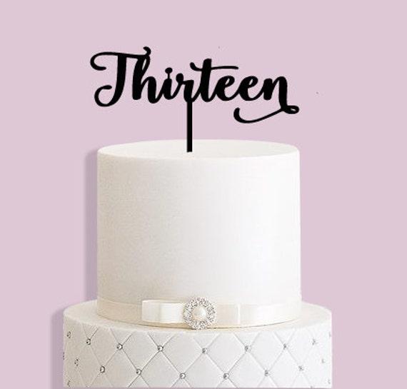 13th Birthday Cake Topper Etsy