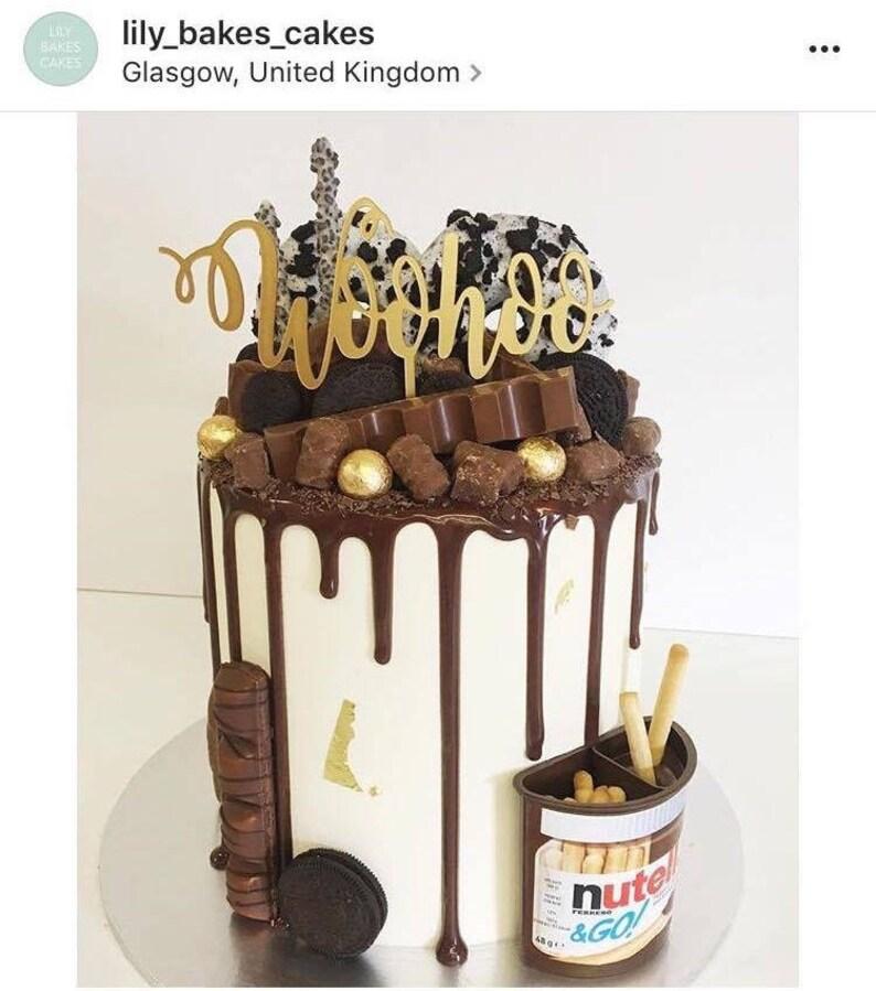 Woohoo Cake Topper Etsy