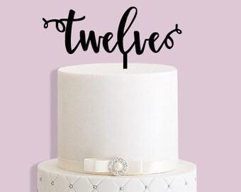 Twelve Cake Topper
