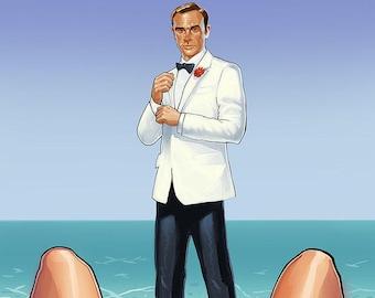 James Bond Illustration Poster