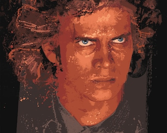 Anakin Skywalker Splatter Paint