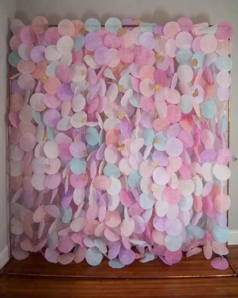 The Original Paper Circle Garland: Pastels image 0