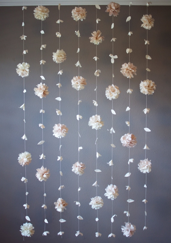 Paper flower and tissue paper puff garland etsy image 0 mightylinksfo