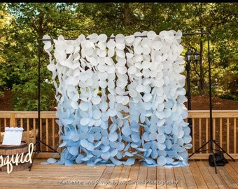 Paper Circle Garland: Blue Ombre