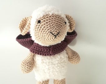 "Amigurumi, Sheep Amigurumi, puppet, children's toy, gift idea ""brave sheep"""