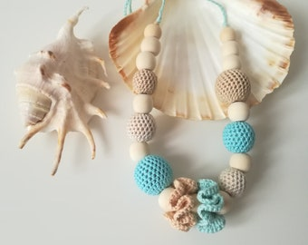 """Summer Magic"" lactation necklace-teething necklace-nursing necklace-birth gift idea-lactation and maternity necklace"