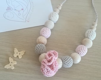"Crochet nursing and teething necklace ""Spring Flower"" - Breastfeeding necklace ""Spring Flower"""