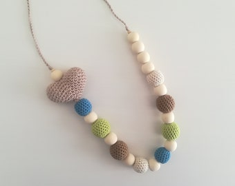 """Big Heart"" lactation necklace"