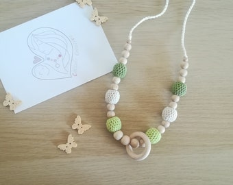 "Breastfeeding necklace - ""Symphony of Green"""