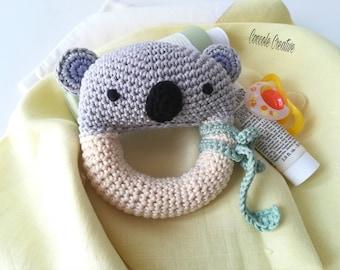 "Rattle, crochet rattle, baby rattle, crochet rattle, Amigurumi rattle ""Baby Koala"""
