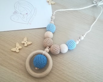 """Magic ring in blue"" Breastfeeding Necklace"