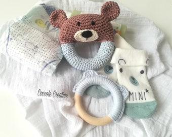 "Rattle, Rattle crochet, Babu rattle, crochet rattle, Amigurumi Bear ""Baby Bear"""