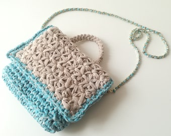 Shoulder Crochet bag-briefcase model