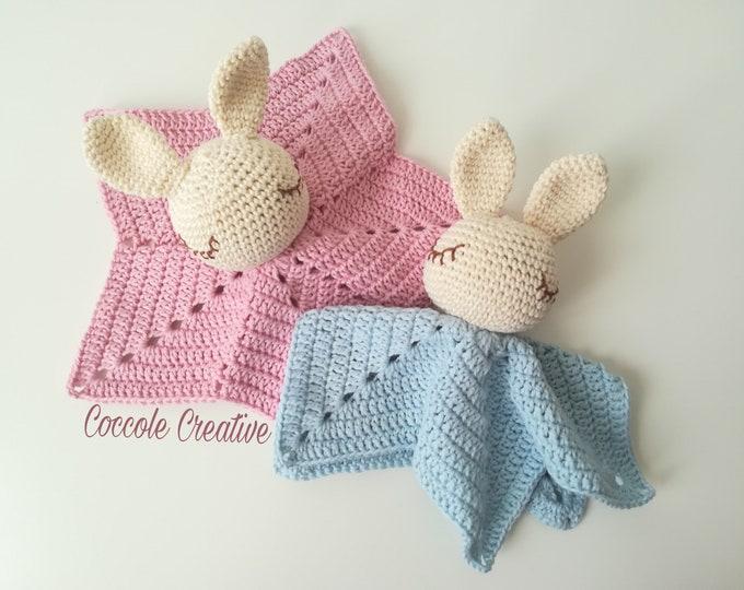 "Featured listing image: Doudou ""Sleepy Bunny""-puppet-Doudou Nanna-Children-gift idea"