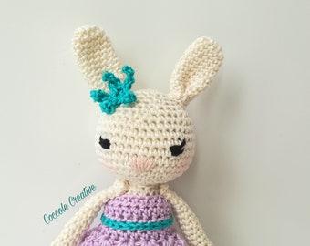 "Amigurumi Bunny ""Miss Bunny""-Amigurumi rabbit, gift idea, puppet"
