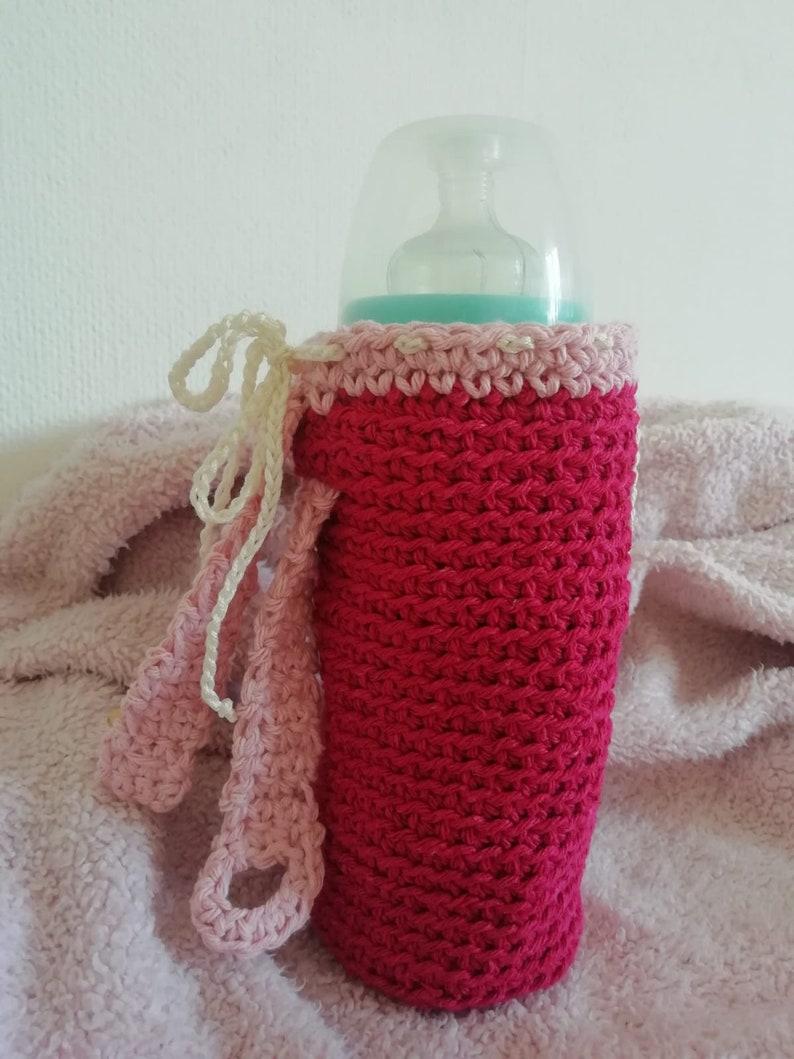Pink crochet bottle door READY DELIVERY
