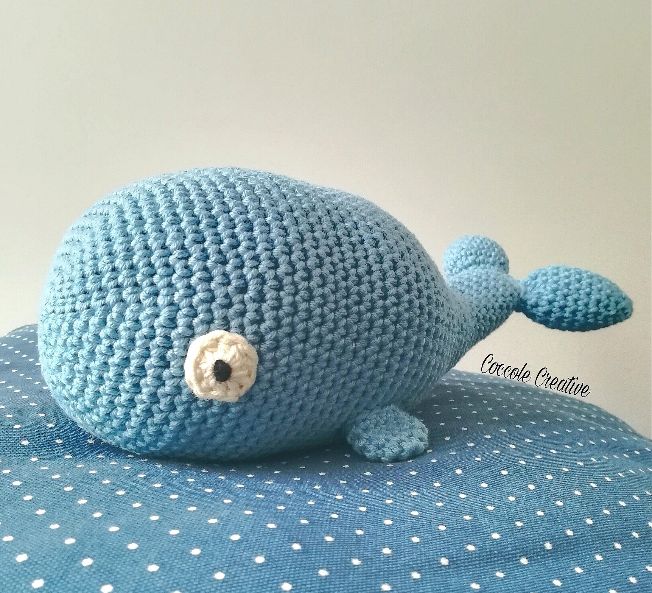 Crochet Amigurumi My Little Blue Whale Free Pattern - Amigurumi ... | 1991x2189