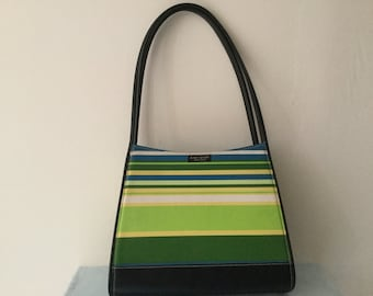 6f6c16bb8eb2c Vintage KATE SPADE Striped Purse Blue