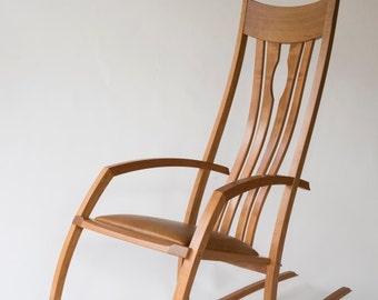 Schaukelstuhl Stuhl, Mitte Jahrhundert Modern, Lange Rocker