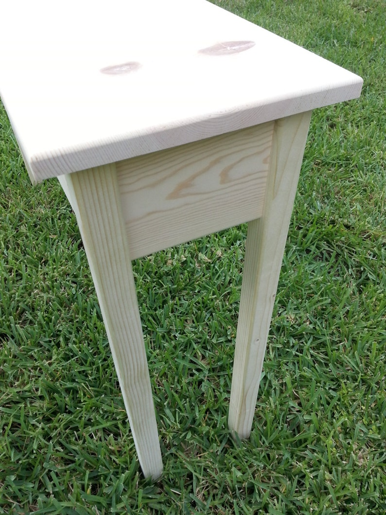 Unfinished Pine Console Sofa Wall Table 46 Long X 11 25 Deep X 30 High