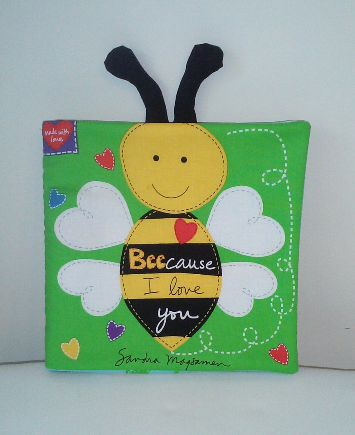 Because I Love You Soft Cloth Books For Baby Children Etsy