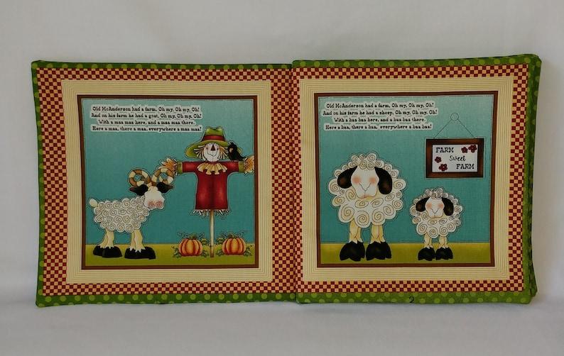 Soft Cloth Books for Baby Old McAnderson/'s Farm Girls Children Child Boys