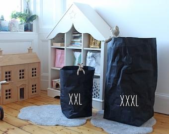 Sac à linge, corbeille à papier lavable, XXXL, Extra Large, sac de rangement, corbeille à papier, rangement jouet, sac en papier, panier à linge, panier, eco
