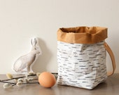 Foraging basket, made from Washable Paper, Birch bark, rustic style, cottage, country, shabby chic, eco, Easter, Wedding flower basket