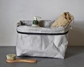 Stylish storage, washable paper bag, box, bread bag, bathroom storage, monochrome, modern home, scandinavian, nordic
