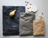 Lunch Bag, Reusable paper bag, washable paper bag, food storage, picnic bag, vegan, minimalistic, eco, zero waste, take away, flat pack
